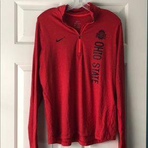 Nike Ohio State Dri Fit quarter zip
